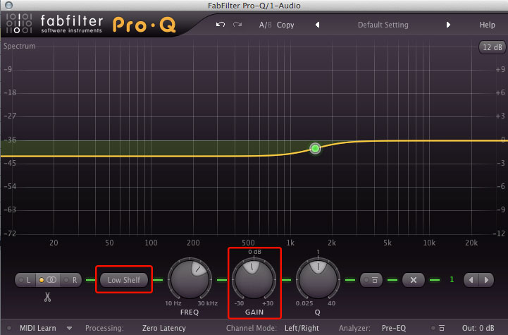 Subtractive EQ: Shelf Filtering